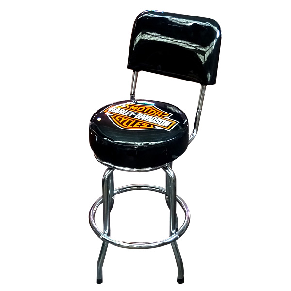 Fantastic Harley Davidson Harley Davidson Low Rider B S Bar Stool W Backrest Hdl 12209 Squirreltailoven Fun Painted Chair Ideas Images Squirreltailovenorg