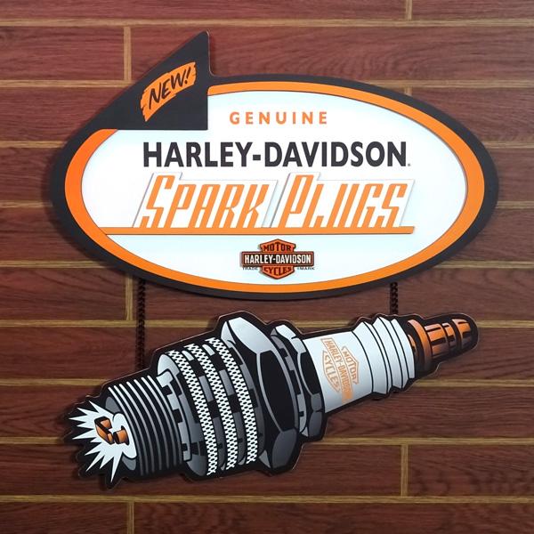HARLEY-DAVIDSON ハーレーダビッドソン スパークプラグ ウッドパブサイン HDL-15315 木製看板 インテリア アメリカ雑貨 アメリカン雑貨