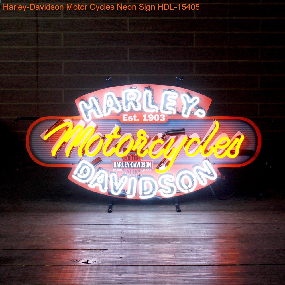 HARLEY-DAVIDSON ハーレーダビッドソン モーターサイクルズネオンサイン HDL-15405 ネオン管 照明 店舗装飾 インテリア ガレージング アメリカ雑貨 アメリカン雑貨