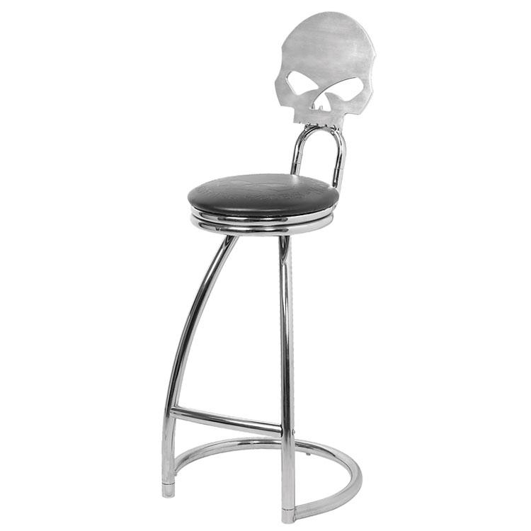椅子 ハーレーダビッドソン ウィリーGスカル ビレット バースツール HDL-12208 HARLEY-DAVIDSON チェア アメリカン雑貨
