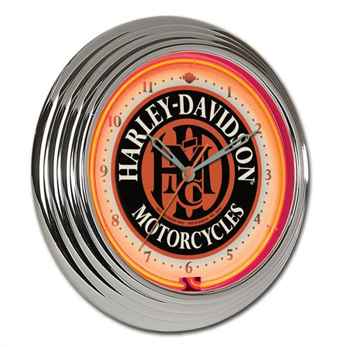 HARLEY-DAVIDSON ハーレーダビッドソン HDMC ネオンクロック HDL-16624 壁掛け時計 ネオン管 インテリア ヴィンテージ アメリカ雑貨 アメリカン雑貨
