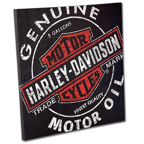 HARLEY-DAVIDSON ハーレーダビッドソン オイルカン キャンバスプリント HDL-15700 アメリカ雑貨 アメリカン雑貨