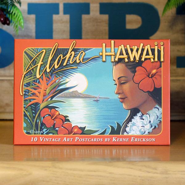 ハワイアンヴィンテージ ポストカードセット エリクソン 10枚入り BPC01 ハワイアン雑貨 数量限定アウトレット最安価格 アメリカン雑貨 今だけスーパーセール限定 お土産 アメリカ雑貨 カード Hawaii インテリア