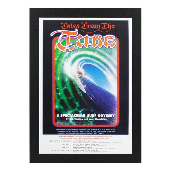 レトロなサーフ映画の人気シリーズ ハワイアンポスター サーフムービー L-137 Tales TUBE 誕生日/お祝い 人気激安 The アートサイズ:縦31.6×横21.5cm From