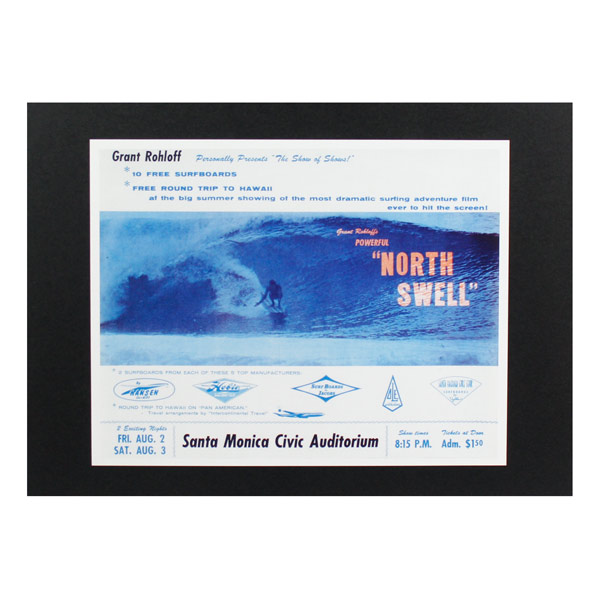 売れ筋ランキング レトロなサーフ映画の人気シリーズ 人気海外一番 ハワイアンポスター サーフムービー L-138 NORT SWELL アートサイズ:縦21.5×横27.5cm