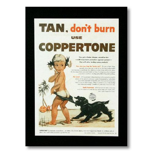 期間限定送料無料 古き良きオールドハワイがたっぷり詰まったデザイン ハワイアンポスター ハワイアンシリーズ 再販ご予約限定送料無料 TAN...don't burn use アメリカン雑貨 縦 COPPERTONE アメリカ雑貨 H-17 コパトーン