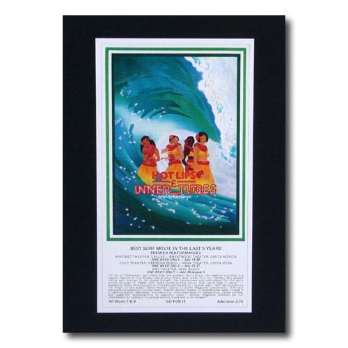お部屋の雰囲気作りに 南国ハワイのポスター サーフムービーポスター L-78 HOT LIPS 格安店 TUBES アメリカン雑貨 ランキングTOP10 サイズ:31×18cm アメリカ雑貨 INNER