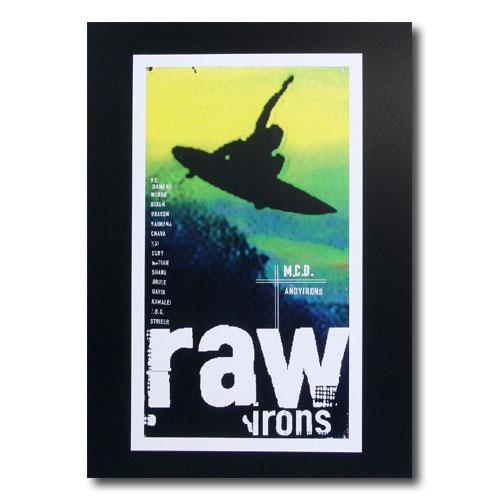 お部屋の雰囲気作りに 南国ハワイのポスター サーフムービーポスター L-104 raw 新作通販 アメリカン雑貨 サイズ:31×18cm irons アメリカ雑貨 お得セット