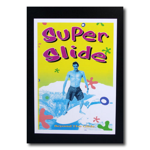 お部屋の雰囲気作りに 南国ハワイのポスター サーフムービーポスター 定番スタイル L-105 super slide サイズ:30×21cm 登場大人気アイテム アメリカ雑貨 アメリカン雑貨
