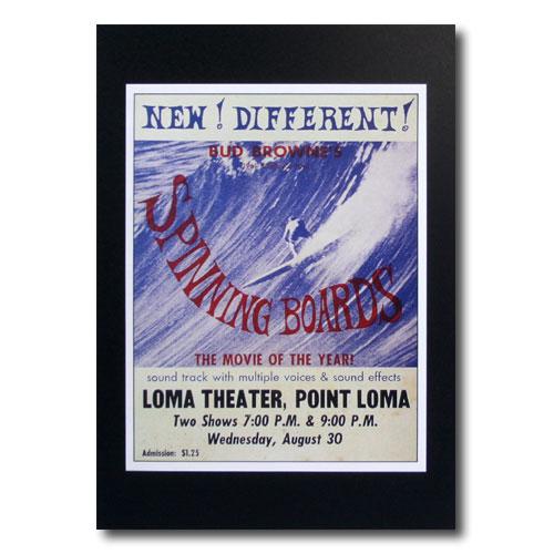 高級な お部屋の雰囲気作りに 南国ハワイのポスター サーフムービーポスター L-117 推奨 SPINING サイズ:27.5×21.5cm BOADERS アメリカ雑貨 アメリカン雑貨