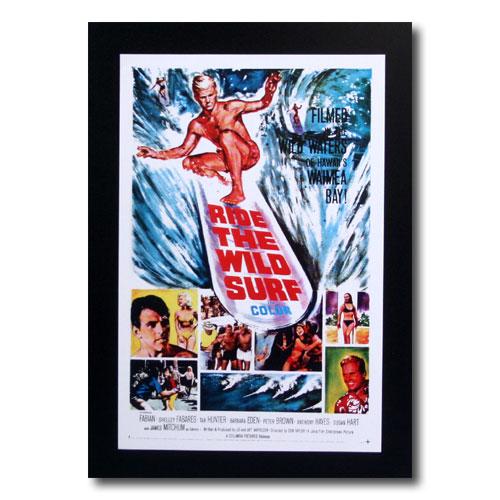 お部屋の雰囲気作りに 南国ハワイのポスター サーフムービーポスター L-120 RIDE 2020 春の新作 THE SURF アメリカ雑貨 サイズ:31×20.5cm アメリカン雑貨 WILD
