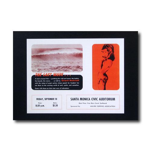 お部屋の雰囲気作りに 南国ハワイのポスター 最新アイテム サーフムービーポスター L-42 THE WAVE... サイズ:21.5×28cm 18%OFF LAST アメリカン雑貨 アメリカ雑貨