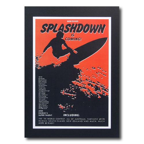 お部屋の雰囲気作りに 南国ハワイのポスター サーフムービーポスター L-57 SPLASH DOWN アメリカ雑貨 COMING 海外限定 サイズ:30.5×21cm IS アメリカン雑貨 新作通販