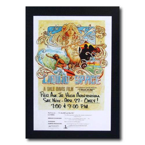 お部屋の雰囲気作りに 南国ハワイのポスター サーフムービーポスター L-74 大特価 LIQUID 送料無料/新品 サイズ:31×21cm アメリカ雑貨 アメリカン雑貨 SPACE