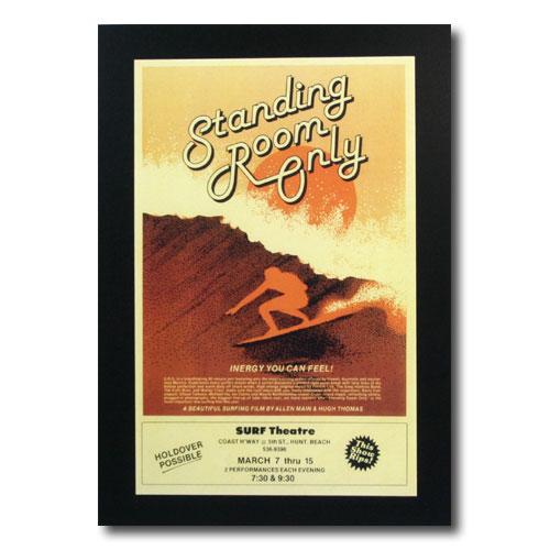 お部屋の雰囲気作りに 南国ハワイのポスター 推奨 サーフムービーポスター L-85 Standing 代引き不可 Room アメリカン雑貨 Only POSSIBLE サイズ:31.5×20cm アメリカ雑貨 HOLDOVER