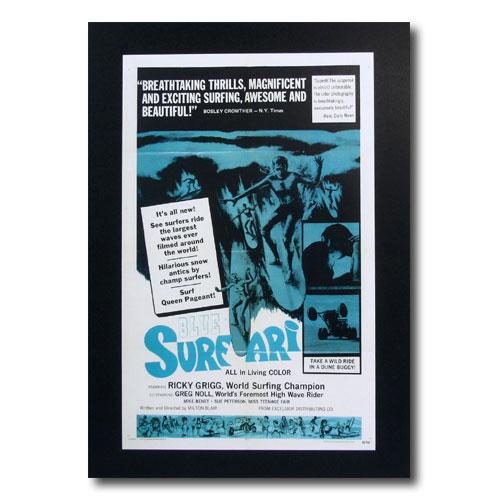 お部屋の雰囲気作りに 南国ハワイのポスター 新生活 早割クーポン サーフムービーポスター L-89 BLUE アメリカン雑貨 サイズ:31×20cm SURFARI アメリカ雑貨