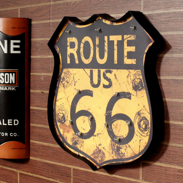 General Store COLOUR | Rakuten Global Market: Route66 LED wall sign ...