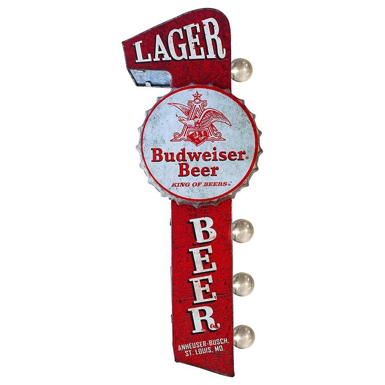 看板 壁面 ダブルサイド マーキーサイン 「Budweiser」レッド #153644 バドワイザー ヴィンテージ ウォールディスプレー ガレージング アメリカ雑貨 アメリカン雑貨