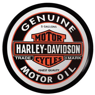 HARLEY-DAVIDSON ハーレーダビッドソン <オイルカン>ミラー (丸型 ) HDL-15216 インテリア 装飾 アメリカ雑貨 アメリカン雑貨