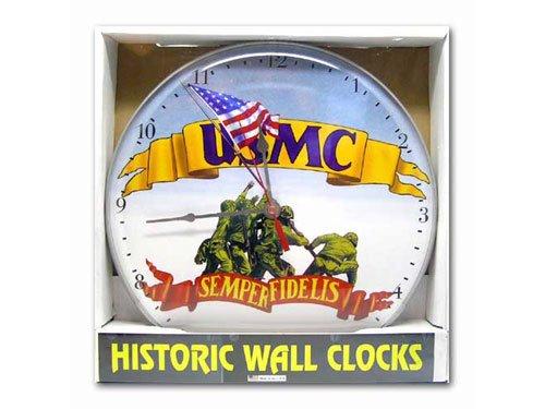 ヒストリック ウォールクロック (USMC ) 壁掛け時計 インテリア アメリカ雑貨 アメリカン雑貨