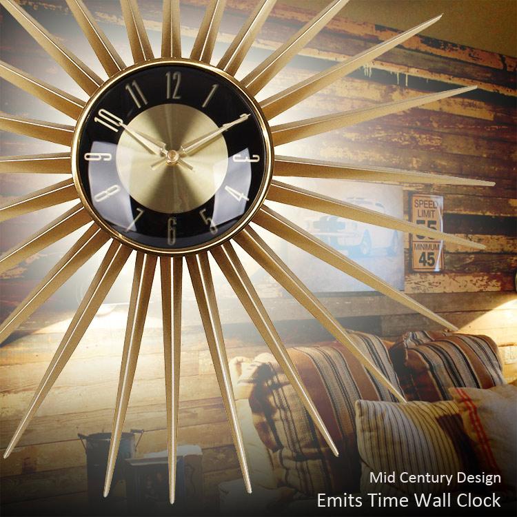 Emits Time エミッツタイム 直径60cm サンバーストクロック 壁掛け時計 ウォールクロック アメリカ雑貨 アメリカン雑貨