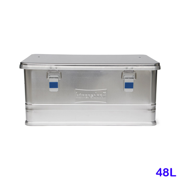 収納用 コンテナボックス アルミニウムプロフィーボックス 48L ヒューナースドルフ社 アウトドア インテリア おしゃれ ドイツ製