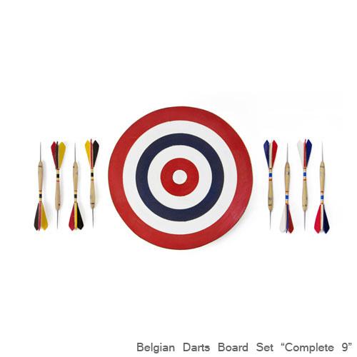 ベルジアン ダーツボードセット「コンプリート9」 アメリカ製 インテリア スティールティップ ハードダーツ アメリカ雑貨 アメリカン雑貨