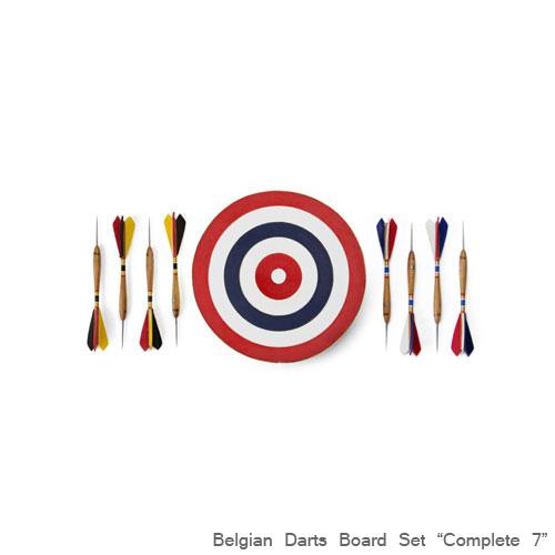 ベルジアン ダーツボードセット「コンプリート7」 アメリカ製 インテリア スティールティップ ハードダーツ アメリカ雑貨 アメリカン雑貨