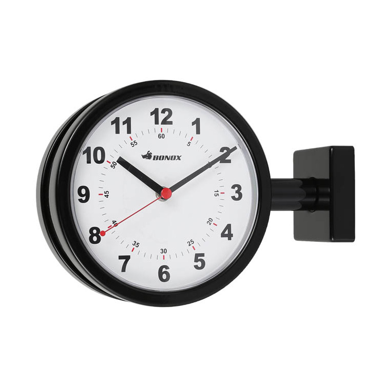 時計 壁掛け ダルトン ダブルフェイスクロック 170D ブラック 両面クロック DULTON ステーションクロック インテリア アメリカ雑貨 アメリカン雑貨