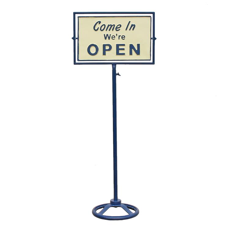 店舗入り口などにお勧めのクラシックなオープンサイン 店舗用 日本産 限定特価 看板 ダルトン スピナー サインスタンド OPEN-CLOSED ネイビー オープン アメリカ雑貨 DULTON アメリカン雑貨 クローズ G965-1245NB