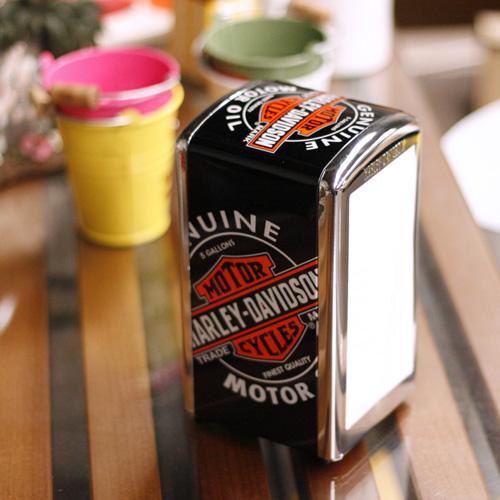 Harley-Davidson Harley-Davidson napkin dispenser < oil cans > HDL-18509