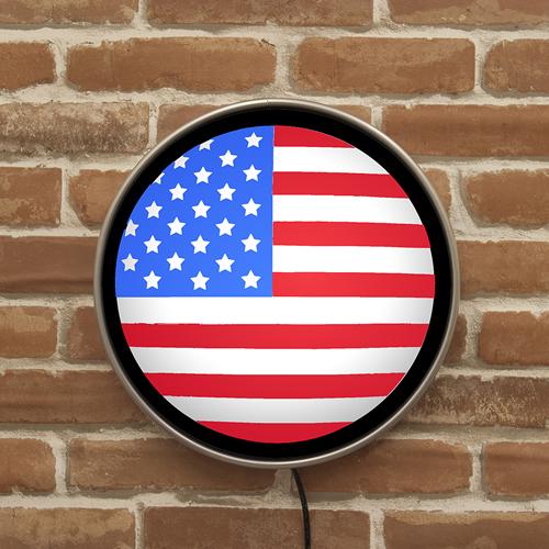 ラウンドウォールランプ US FLAG USフラッグ MLG-1081 ガスランプ ウォールライト 間接照明 インテリア アメリカ雑貨 アメリカン雑貨