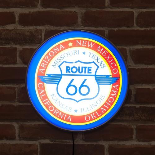 ラウンドウォールランプ Route 66 ルート66:ブルー MLG-1093 ガスランプ ウォールライト 間接照明 インテリア アメリカ雑貨 アメリカン雑貨