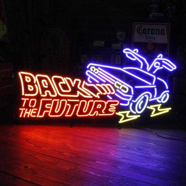 네온 사인 「 BACK TO THE FUTURE 백 투 더 퓨처 」/네온 관/아메리칸 인테리어/