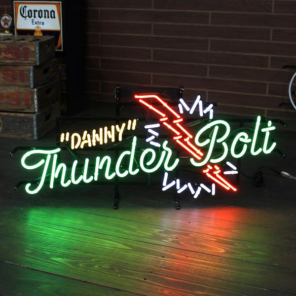 ネオンサイン 「DANNY THUNDERBOLT」 (ダニーサンダーボルト ) ネオン管 照明 ガレージ インテリア アメリカ雑貨 アメリカン雑貨