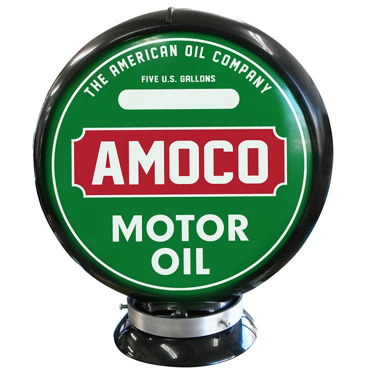 ガスランプ AMOCO MOTOR OIL (GREEN) ガソリン給油機 ガソライト ライト レトロ 照明 アメリカ雑貨 アメリカン雑貨