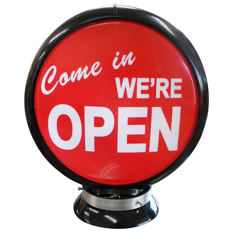 ガスランプ Come in we're OPEN ガソリン給油機 ガソライト ライト レトロ 照明 アメリカ雑貨 アメリカン雑貨