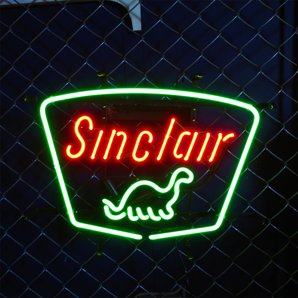 アメリカンネオンサイン シンクレア SINCLAIR H38×W50cm 店舗装飾 ガレージ ネオン管 ネオン照明 インテリア アメリカ雑貨