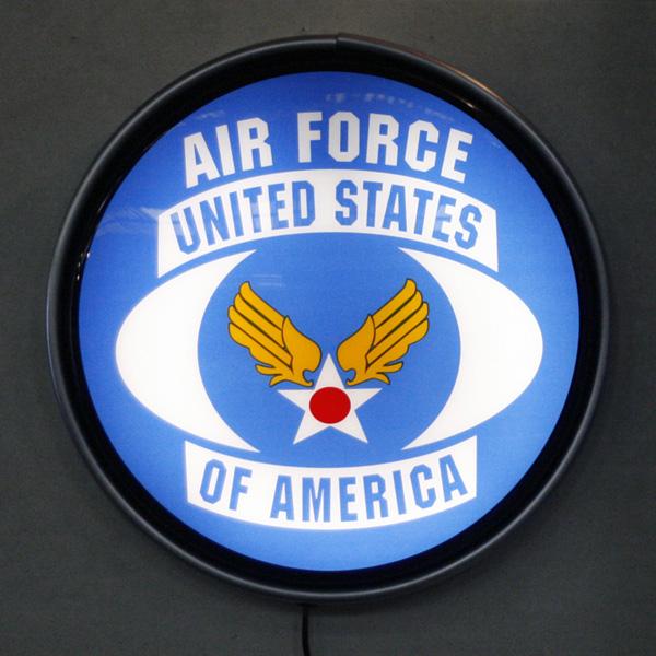 ラウンドウォールランプ U.S.AIRFORCE USエアフォース アメリカ雑貨 アメリカン雑貨