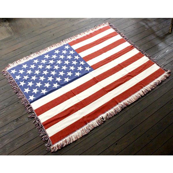 U.S.A フラッグシリーズ ジャアントマット 140×200cm コットンマット キッチンマット 星条旗柄 アメリカ雑貨 アメリカン雑貨
