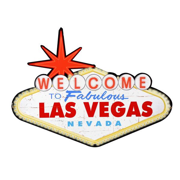 アメリカンスティールサイン「Welcome to Las Vegas」 PS-223 ラスベガス メタルサイン 看板 アメリカ雑貨 アメリカン雑貨