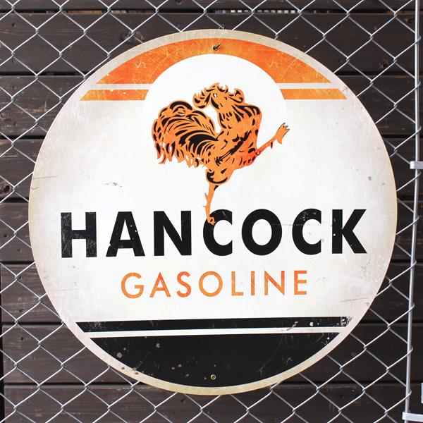 アメリカンスティールサイン「Hancock Gasoline」 VXL-089 ハンコックガソリン メタルサイン 大型看板 アメリカ雑貨 アメリカン雑貨