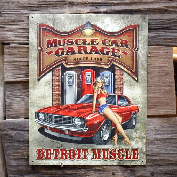 General Store Colour Metal Sign Legends Muscle Car Garage 1568