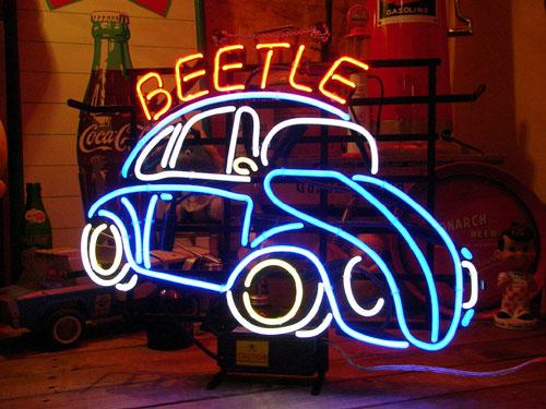 ネオンサイン BEETLE ネオン管 照明 店舗装飾 インテリア ガレージング アメリカ雑貨 アメリカン雑貨