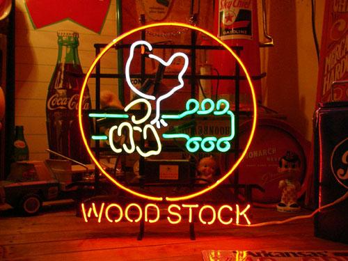ネオンサイン WOOD STOCK ネオン管 照明 店舗装飾 インテリア ガレージング アメリカ雑貨 アメリカン雑貨