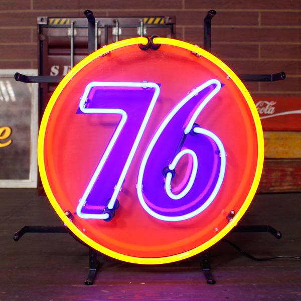アメリカンネオンサイン 76 ネオン管 ガレージング アメリカンインテリア アメリカ雑貨 アメリカン雑貨
