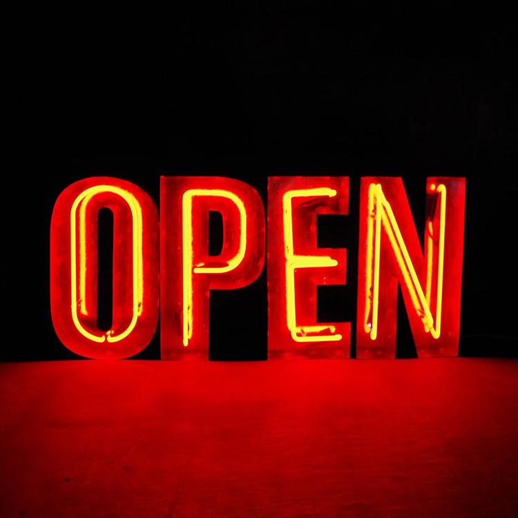 アメリカンサイン ウィズ ネオン 「OPEN」 レッドネオン インパクトフォント 店舗装飾 インテリア 照明 アメリカ雑貨 アメリカン雑貨