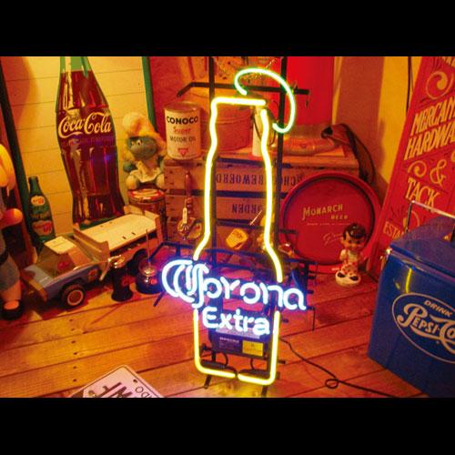 ネオンサイン CORONA コロナ ネオン管 照明 店舗装飾 インテリア ガレージング アメリカ雑貨 アメリカン雑貨