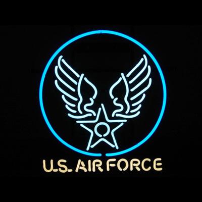 ネオンサイン <U.S AIRFORCE USエアフォース> Type 1 サイズ:H51×W46cm ネオン管 照明 店舗装飾 インテリア ガレージング アメリカ雑貨 アメリカン雑貨