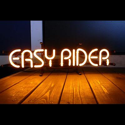 ネオンサイン <EASY RIDER イージーライダー> サイズ:H9×W53cm ネオン管 照明 店舗装飾 インテリア ガレージング アメリカ雑貨 アメリカン雑貨